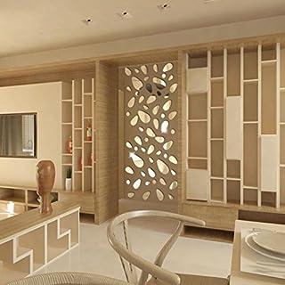 Diamant Malerei Clode® 12 Stücke 3D Spiegel Vinyl Abnehmbare Wandaufkleber Aufkleber Home Decor Art DIY (Gold)