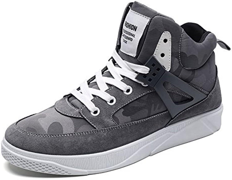 Shufang-scarpe, 2018 Scarpa da tennis per uomo scarpe da ginnastica tacco piatto con lacci tinta unita (Coloree   Grigio, Dimensione... | riparazione  | Uomo/Donna Scarpa