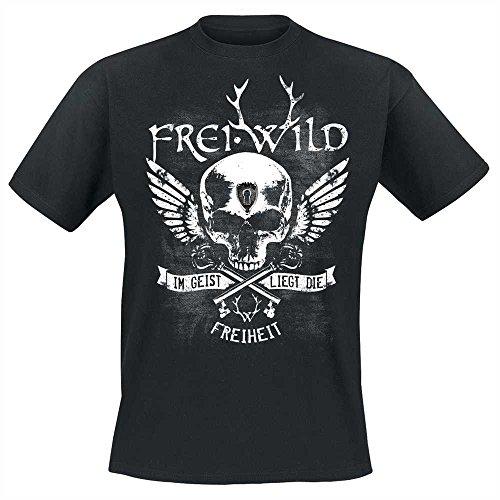 Frei.Wild - Im Geist Liegt Die Freiheit T-Shirt, schwarz, Grösse M (Tee Freiheit Mens)