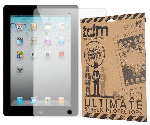 Tedim® - Protezione schermo antiriflesso, 6 pezzi, con panno pulente in microfibra e scheda di applicazione per Apple iPad 2, Apple iPad 3, Apple iPad 4