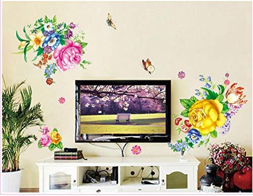 Aufkleber Nationale Farbe Duft Pfingstrose Tv Hintergrund Pvc Wandaufkleber -