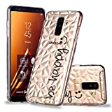 Samsung Galaxy A6 Plus/A6+ 2018 H�lle, MISSDU Clear Transparent TPU 360 Grad Sto�d�mpfend Bumper Handytasche Embossed Pattern Handyh�lle + Schutzfolie, Stift, Be Happy Bild