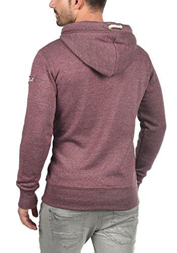SOLID TripStrip Herren Kapuzenpullover Hoodie Sweatshirt aus hochwertiger Baumwollmischung, Größe:M, Farbe:Wine Red Melange (8985) - 3