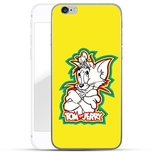 finoo   iPhone 7 Plus Hard Case Handy-Hülle Tom & Jerry Motiv   dünne stoßfeste Schutz-Cover Tasche mit lizensiertem Muster   Premium Case für Dein Smartphone  Jerry Happy Color gelb