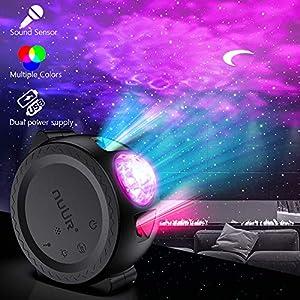 Ozean Projektor, NUÜR 3 in 1 Mond Stern Wellen Projektor USB Wiederaufladbar mit 2200mAh Akku Projektor Lampe, Multi…
