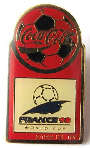 Für Cocacola Kostüm Erwachsene - Coca-Cola - World Cup France 1998 - Pin 34 x 18 mm