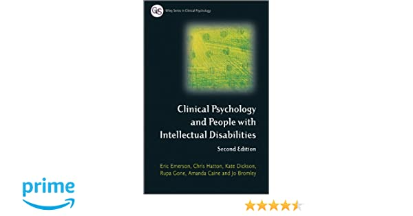 clinical psychology and people with intellectual disabilities emerson eric hatton chris dickson kate gone rupa bromley jo caine am anda