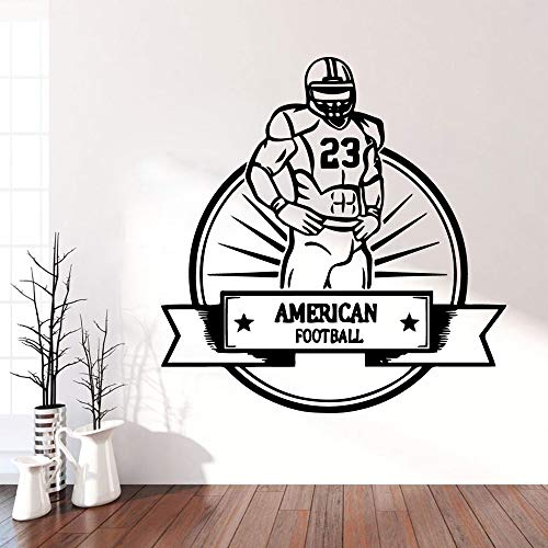 zhuziji New Rugby Football Vinyl Wall Sticker Wallpaper Home Decoration Accessories for House Decoration Wal 28cm X 28cm Samsung Rugby