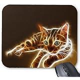 Fractalius Bengal Cat Mouse Pad