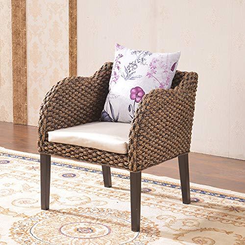 seeksungm Chair, Single Fashion rotin Armchair, Household Natural Handmade Leisure Wicker Chair (Single Piece), hc317
