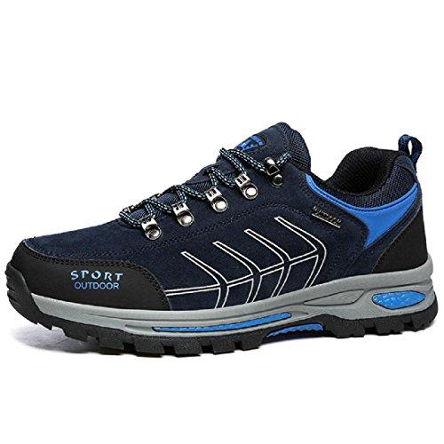 Uomo Moda Scarpe sportive Allaperto Scarpe da trekking formatori Scarpe da viaggio Antiscivolo È aumentato euro DIMENSIONE 39-45 blue