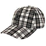 Hooligan Karo Cap Golf New black check - Einheitsgrösse
