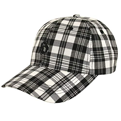 Hooligan Karo Cap Golf New black check - Einheitsgrösse