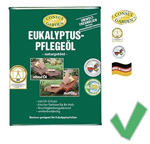 EUKALYPTUS PFLGEÖL Eukalyptusholz Eukalyptusmöbel Holzmöbel Eukalyptusöl Hartholz Pflege Schutz...