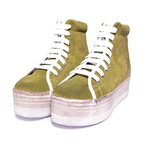 JEFFREY CAMPBELL - .HOMG SUEDE WASH - LIGHT GREEN Verde