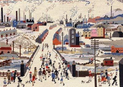 Die Ohrkanal-Brücke (Lowry Tapisserie-Set