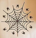 Set di decorazioni per torte a tema Spiderman, commestibili, per feste per bambini, Halloween o altre occasioni 22 cm large web, 7 cm small web Any Other Colour - Message on Checkout