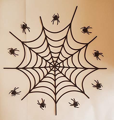 -dekoration, Design: Spiderman mit Spinnennetz, für Halloween, Kinder, Kuchen oder Cupcakes 22 cm large web, 7 cm small web Any Other Colour - Message on Checkout ()