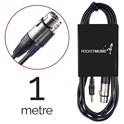 Rocket M cmJX100 Cavo Pro-Serie per Microfono da Jack mini a XLR, F 1m