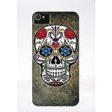 Générique Coque tête de Mort mutlicolor Compatible iphone 4 Transparent