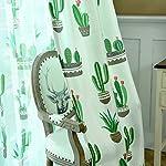 BAI Le Tende Tendaggio Blackout Curtain Poliestere Succulente Cactus Arte del Panno Stampa Cotone E Lino Tessuti per Trattamenti per Finestre Prodotto Finito Grommet Top Un Pannello 145 * 270 Cm