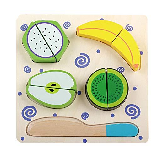 Wimagic 1 Set Holzspielzeug für Lebensmittel, Spielzeug, Küche, Essens-Sets für Kinder, niedliches kreatives Spielzeug, Lernspielzeug für Babys und Kinder, Holz, Stil 1, 18 * 18 * 2.2cm