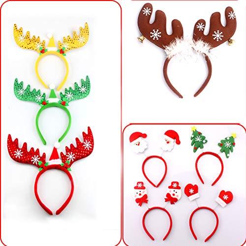 Auntwhale Kinder Damen Weihnachten Stirnband Hairwrap, Niedliches Rentier Geweih Haarband, Mit Schneeflocke Weihnachten Kostüme Dekoration Geschenke