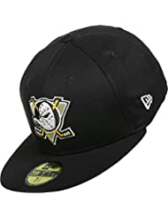 New Era Mighty Ducks Of Anaheim Black Base Cap 59fifty Basic Fitted Mens NHL