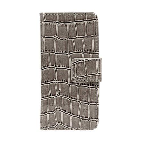 Aiino Étui de protection Coque Case de protection Coque Case Crocco Accessoire pour téléphone portable Smartphone Apple iPhone 5/5S gris