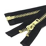 YaHoGa 70 cm #10 Große Reißverschluss Metall Reißverschluß teilbar Reissverschluss für Mantel, Jacke