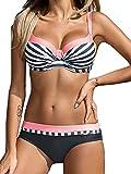 Yuson Girl Bikini Sets Damen, Bademode Push up Bikinis Sexy Badeanzug Bikinis für Frauen (DE42, Stil 2:Rosa)