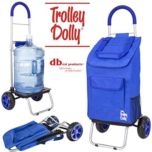 dbest products Trolley Dolly faltbar Warenkorb strapazierfähig blau