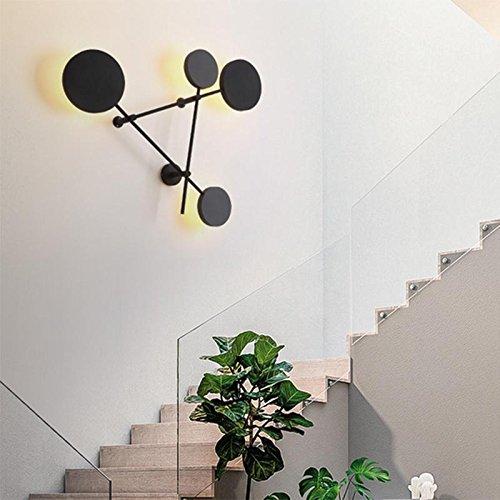 Höhe 7 Stück Esszimmer (Wandleuchten LED, Moderne Acryl Runde 6W * 4, einfache kreative Schlafzimmer Esszimmer Licht, Gangbeleuchtung 1 Stück [Energieklasse A +], B)