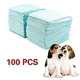 Civigroupey Puppy Training Pads 100 Stück, Trainingsunterlagen für Welpen, 60x45cm Extra Saugstarke Welpenunterlage, Welpentoilett Hygieneunterlagen für Haustiere ...