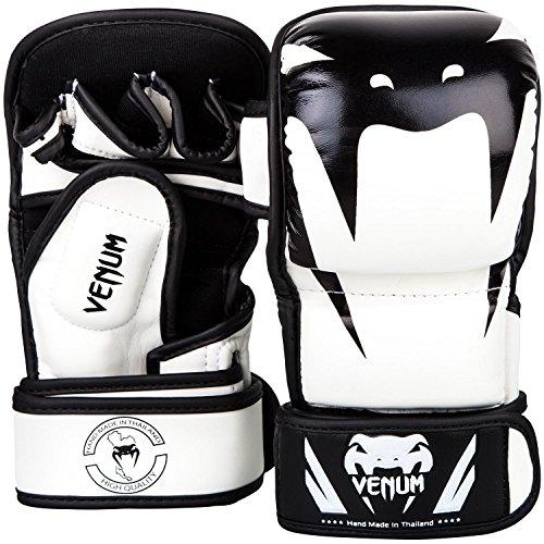 Venum Impact MMA Sparring Handschuhe, Weiss/Schwarz, L/XL Doppel-einheit-box