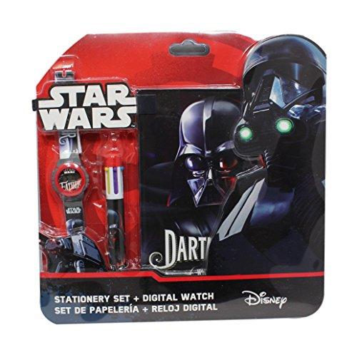 Digitaluhr Star Wars Darth Vader mehr Style und Block Note