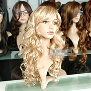 Lady Sexy Long wavy Blonde Party Hair wig