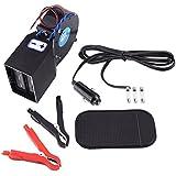 VGEBY Ventilateur De Chauffage Portable Dégivreur Desembuage Double PTC 2-en-1 12V Pour Voiture
