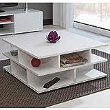 Marque Amazon -Movian Segre - Table basse, 70x70x29cm (longueurxprofondeurxhauteur), Blanc