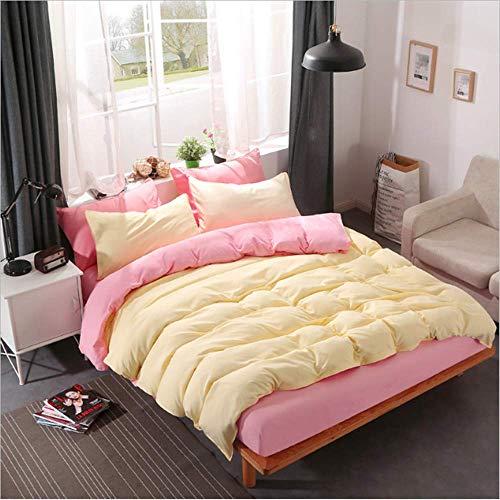 SHJIA Volltonfarbe Bettwäsche Set Bettbezug Set Kissenbezüge Baumwolle Tröster Bettwäsche-Sets Bettwäsche B 245x210cm -