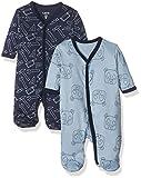 Care Baby-Jungen Schlafstrampler, 2er Pack, Mehrfarbig (Royal Blue 750), 6 Monate (Herstellergröße: 68 )