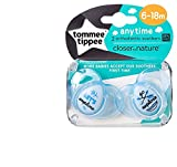 Tommee Tippee Closer To Nature: 2 x Schnuller 6-18m (Grow Wise Little One)