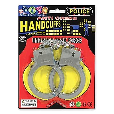NEW Silver Plastic handcuffs Police Sexy Fancy Dress (Accessoire de Costume)