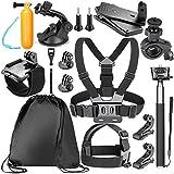 Neewer 12-in-1 Action-Kamera Zubehör-Kit für GoPro Hero 4/5 Session, Hero, SJ4000 / 5000, Nikon und Sony Sports DV in Schwimmen Rudern Klettern Fahrradfahren Camping und mehr