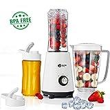 Balter Standmixer MX-1 Viva Smoothie Maker ✓ 1L Behälter ✓ 2x 400ml Trinkflaschen ✓ spülmaschinenfest ✓ 350W ✓ Farbe: Weiß