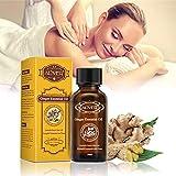 Neue Lymphdrainage Ingweröl Ätherisches,reine natürliche SPA Massage Öle 30ml,Entlasten Muskelkater -Feuchtigkeits und Kälteentfernung