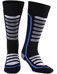 Merino Wool Ski Socks, Extremely Thermal Winter Socks, Antibacterial Odor-resistant, High Performance Warm Skiing Socks for Skiing, Hiking, Cycling, Trekking and Other Winter Sports Andake