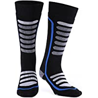 Merino Wool Ski Socks, Extremely Thermal Winter Socks, Antibacterial Odor-resistant, High Performance Warm Skiing Socks for Skiing, Hiking, Cycling, Trekking and Other Winter Sports Andake