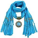 YEBIRAL Schal Damen Schal Anhänger Quaste Frauen Mode Accessoires Deckenschal Halstuch Schals(Hellblau)