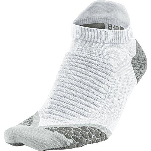 Nike No Show Socks Elite Running Cushion NST, Uni Nike, Weiß/Wolfsgrau, 41-43 (Running No Show Sock)